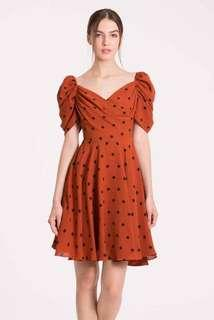 Doublewoot rust orange dreama dress