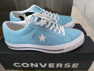 e0cef9fde2a Converse One Star OX Vintage Suede Shoreline Blue White