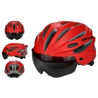 ***New GUB Red K80 PLUS Helmet with visor and goggles