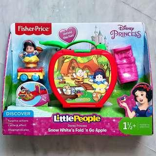 (In-Stock) Fisher-Price Little People Disney Princess, Snow White's Fold 'n Go Apple by Little People (Brand New)