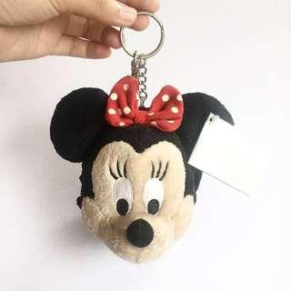 Minnie Mouse Head Keychain with pocket & mirror
