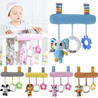 🚚 🌟PM for price🌟 🍀New Baby Crib / Car Seat / Stroller Hanging Soft Plush Toy🍀