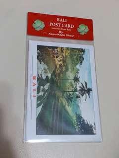 峇裡島 當地明信片