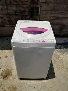 Used Toshiba washer 6.5kg washing machine mesin basuh fully automatic stainless steel drum in good condition