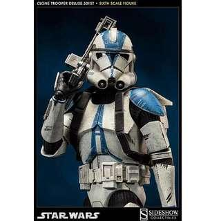 Sideshow Star War Deluxe Clonetrooper 1:6
