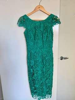 Elegance green lace dress