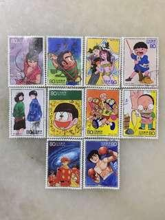 Used Stamps in Japanese Manga Characters #CNY888