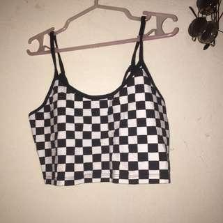 F21 checkered tops