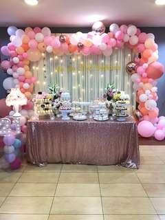 Birthday event decor