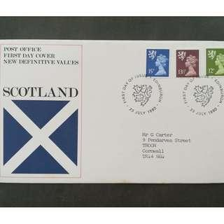 British First Day Cover- Scotland