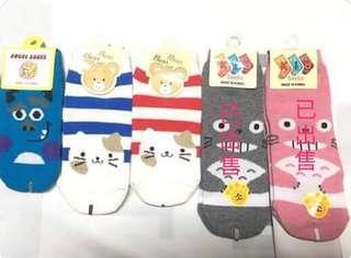 🚚 幼兒童韓製襪 藍貓喵 紅貓喵 迪士尼毛怪  韓國帶回