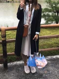 🚚 Chuchu style 長版黑色針織外套