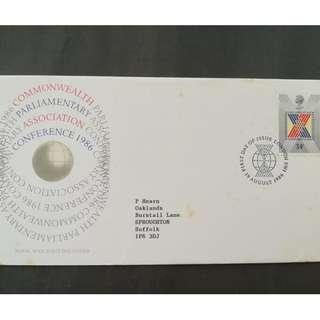 British First Day Cover- Commonwealth Parliamentary Association Conference 1986