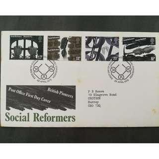British First Day Cover- British Social Reformers