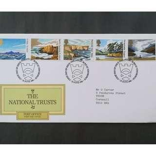 British First Day Cover- The National Trusts
