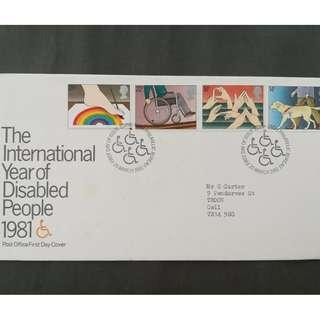 British First Day Cover- The International Year of Disabled People 1981