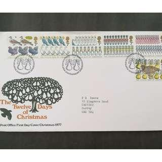 British First Day Cover- The Twelve Days of Christmas
