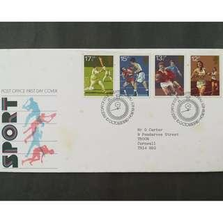 British First Day Cover- Sport