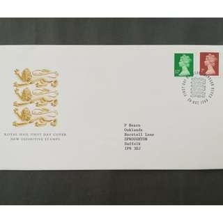 British First Day Cover- NEW DEFINITIVE STAMPS