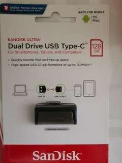 Sandisk Dual Drive USB Type C 128gb
