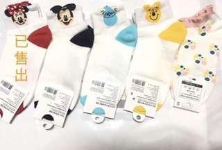 🚚 迪士尼 米奇 維尼 毛怪 造型韓製襪 韓國帶回