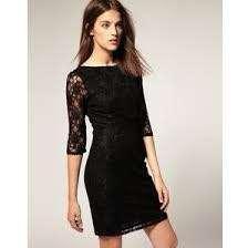 Warehouse Lace Black Dress