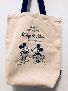 🚚 迪士尼 米奇與米妮相愛 肩背帆布包