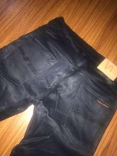 Nudie jeans black metallic