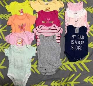 🚚 NB 0-3mths Baby Rompers (set of 12)