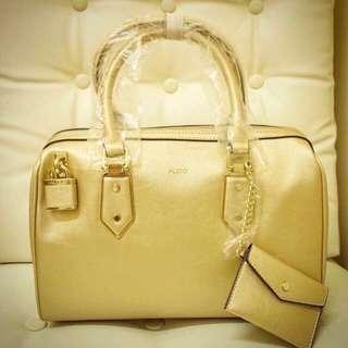 Aldo gold bag