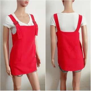 (S) Korean Red Jumper dress