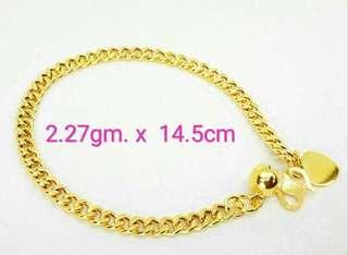 916 Gold Girl Bracelet/ Baby Anklet