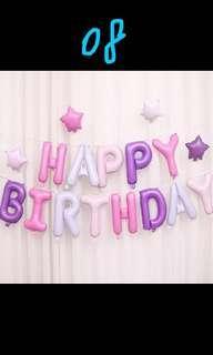 Happy Birthday 佈置D party decoration