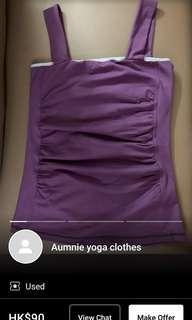 Aumnie purple yoga tank