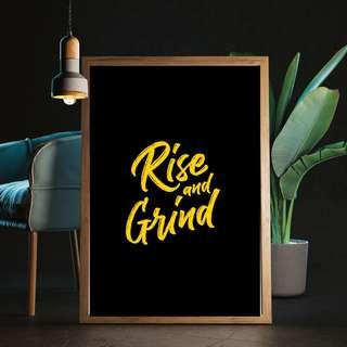 Rise and grind - Poster / artprint