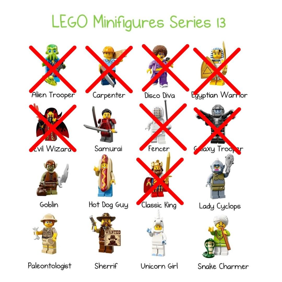 71008 Lego Minifigures series 13