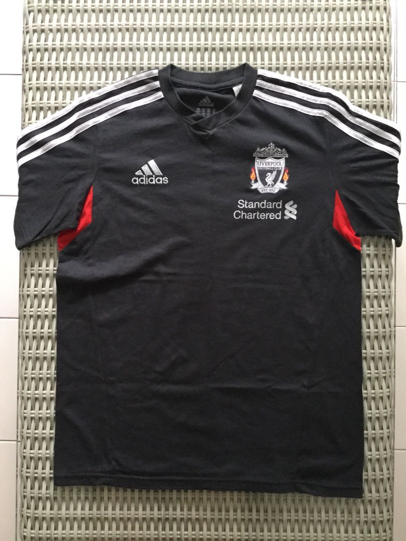 3fac839c34c Adidas💯% Authentic dark grey Liverpool training jersey for SGD 21 (size  Youth XL)