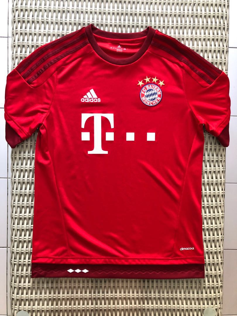 744da3c3b Adidas💯% Authentic red Bayern Munich home jersey for SGD 27 (size ...