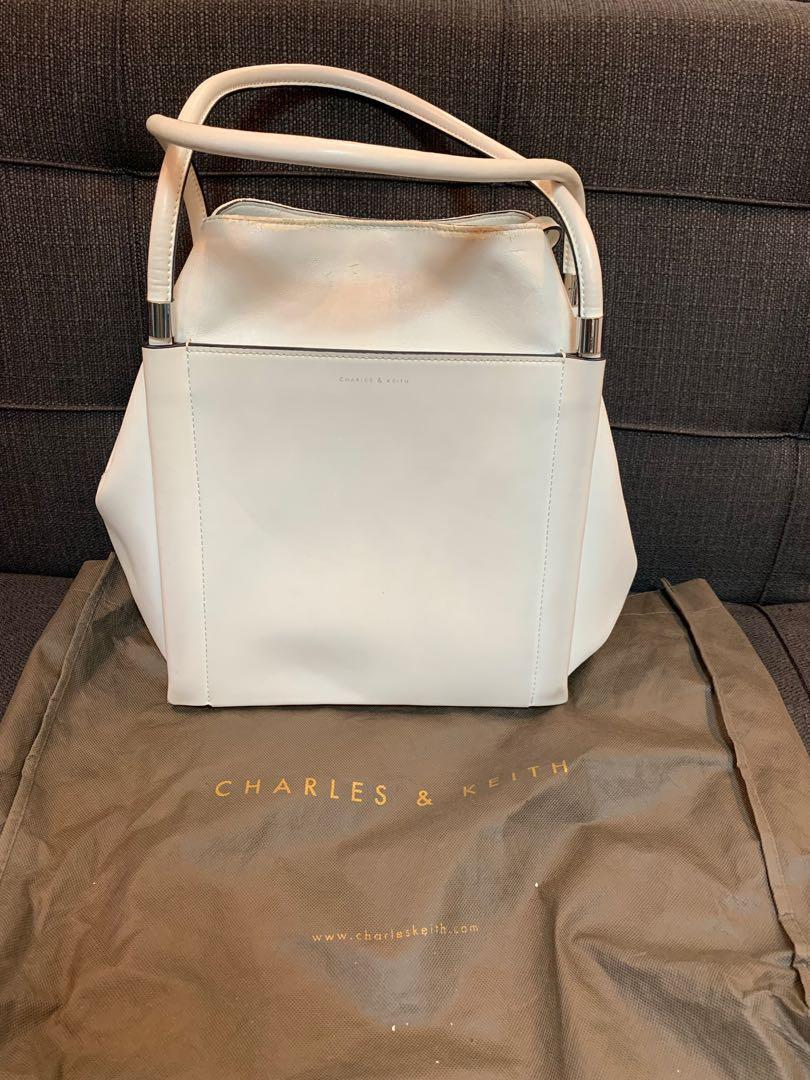 Auth- Charles & Keith Bag White