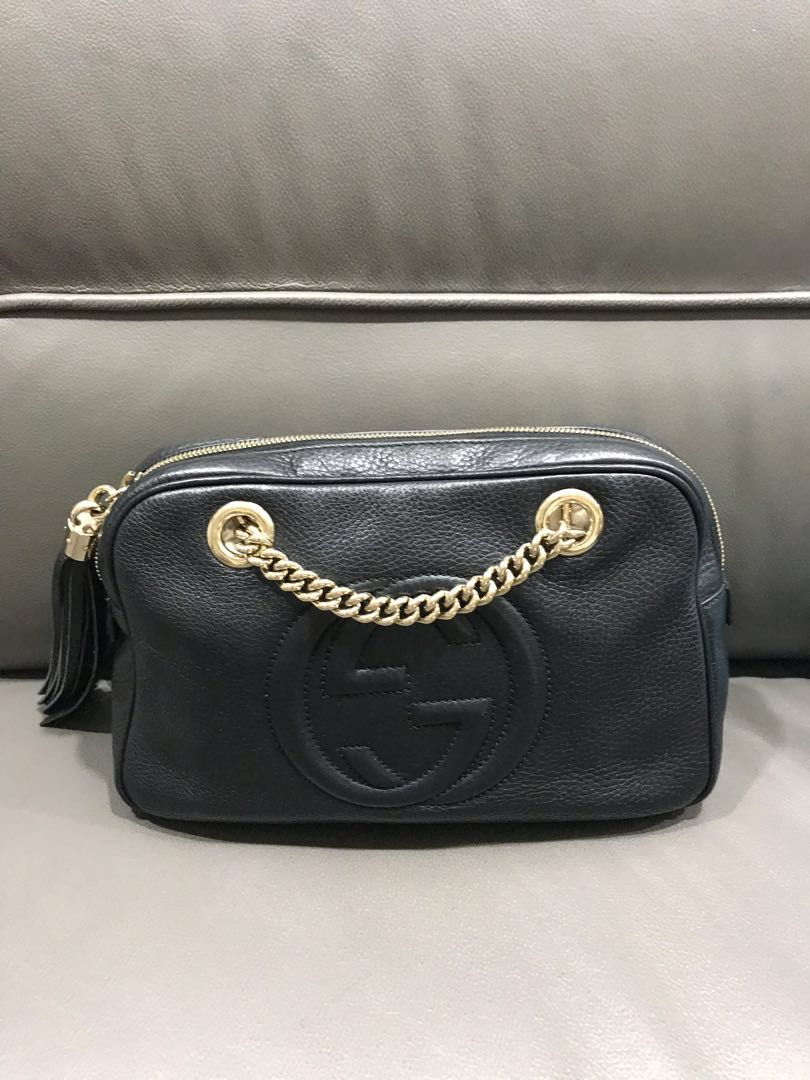 22e3929a079eb3 Authentic Gucci Soho Chain bag, Luxury, Bags & Wallets, Handbags on  Carousell