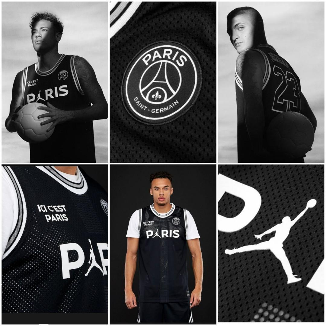 cheap for discount 1908f ef70b Authentic LIMITED EDITION JORDAN x PSG Mesh Top Basketball ...