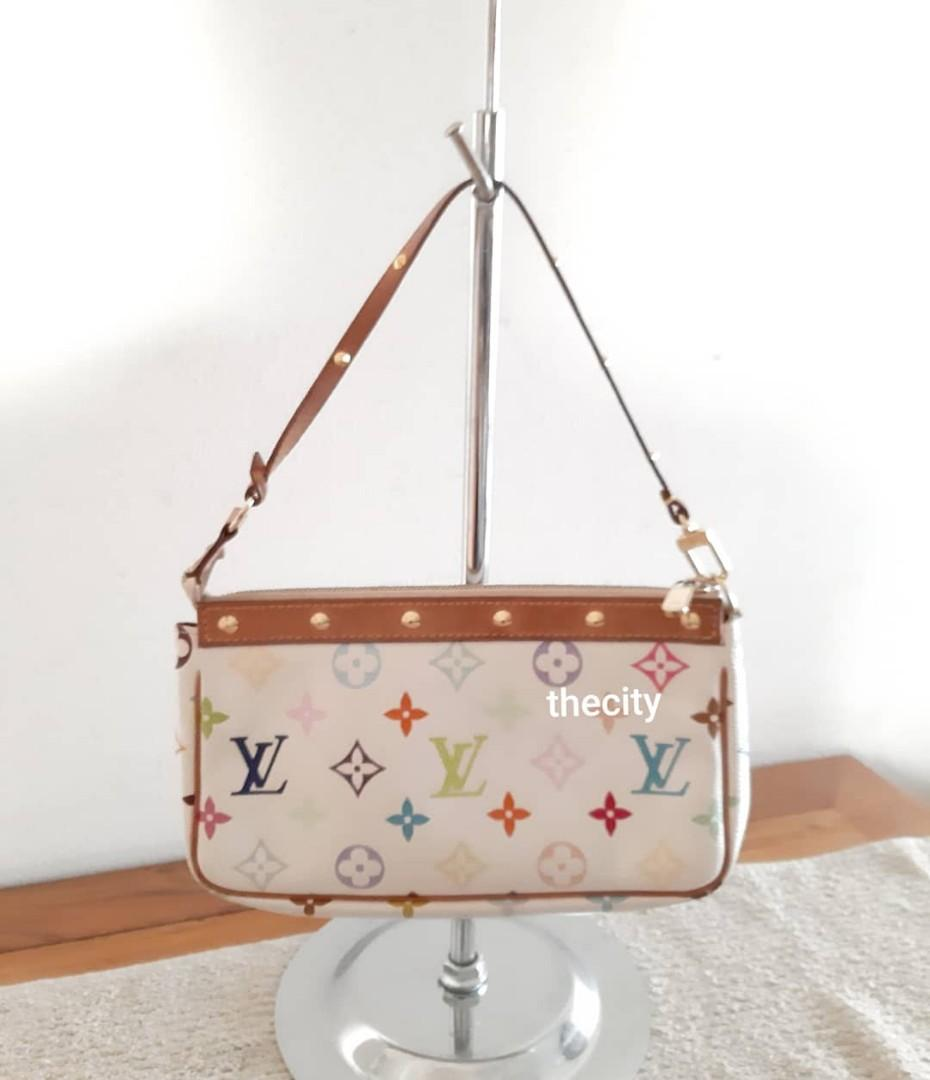 AUTHENTIC LOUIS VUITTON MULTICOLOR POCHETTE - CLEAN INTERIOR, OVERALL GOOD CONDITION - (BOUGHT AROUND RM 3000+) - RM 650 ONLY