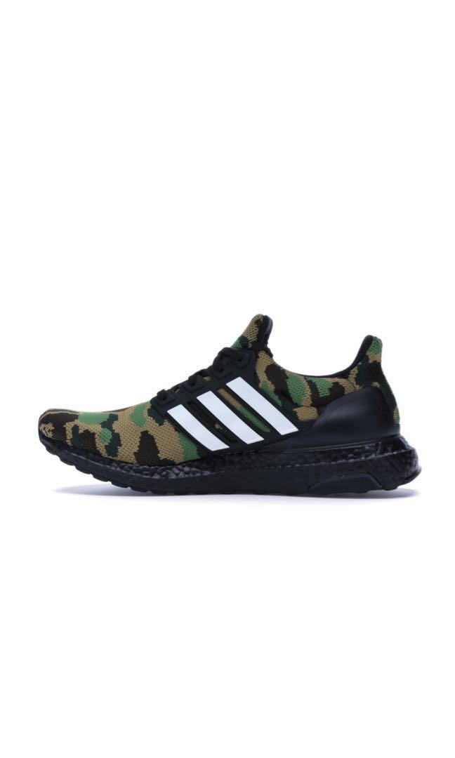 823ba7c6aac03 Bape x Adidas ultra boost green camo (US6.5)