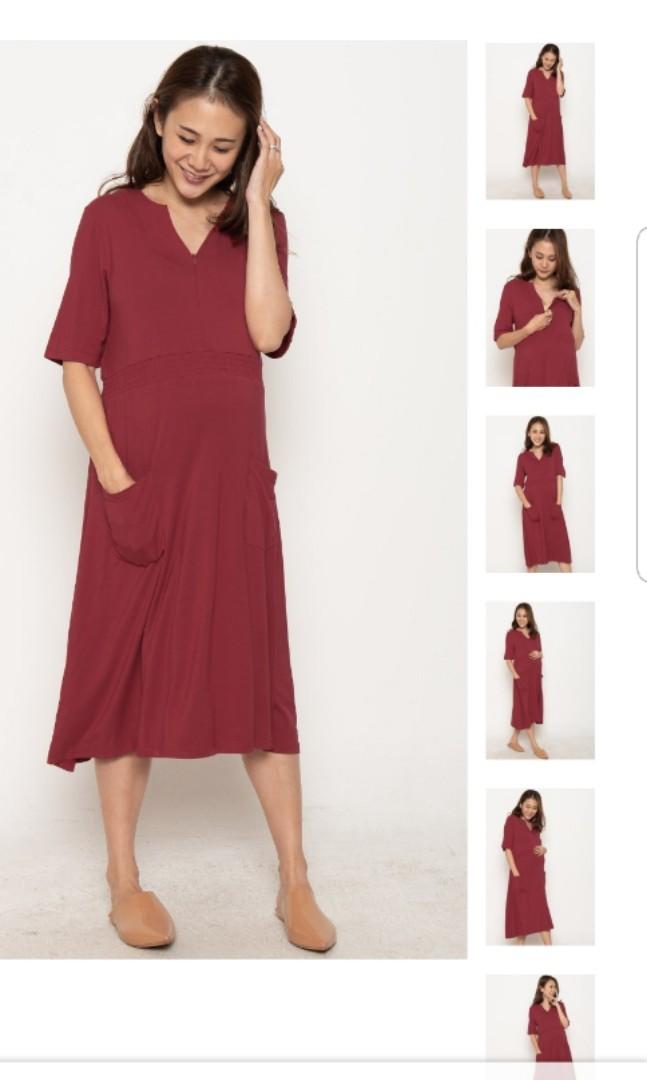 745fc95c94336 BNWT JEC Clio Zipped Down Nursing Dress in Red, Babies & Kids ...