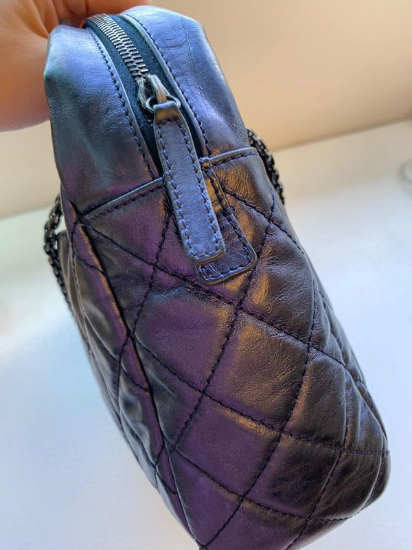 6f75870cb943 ChAnel reissue camera bag in gorgeous metallic purple