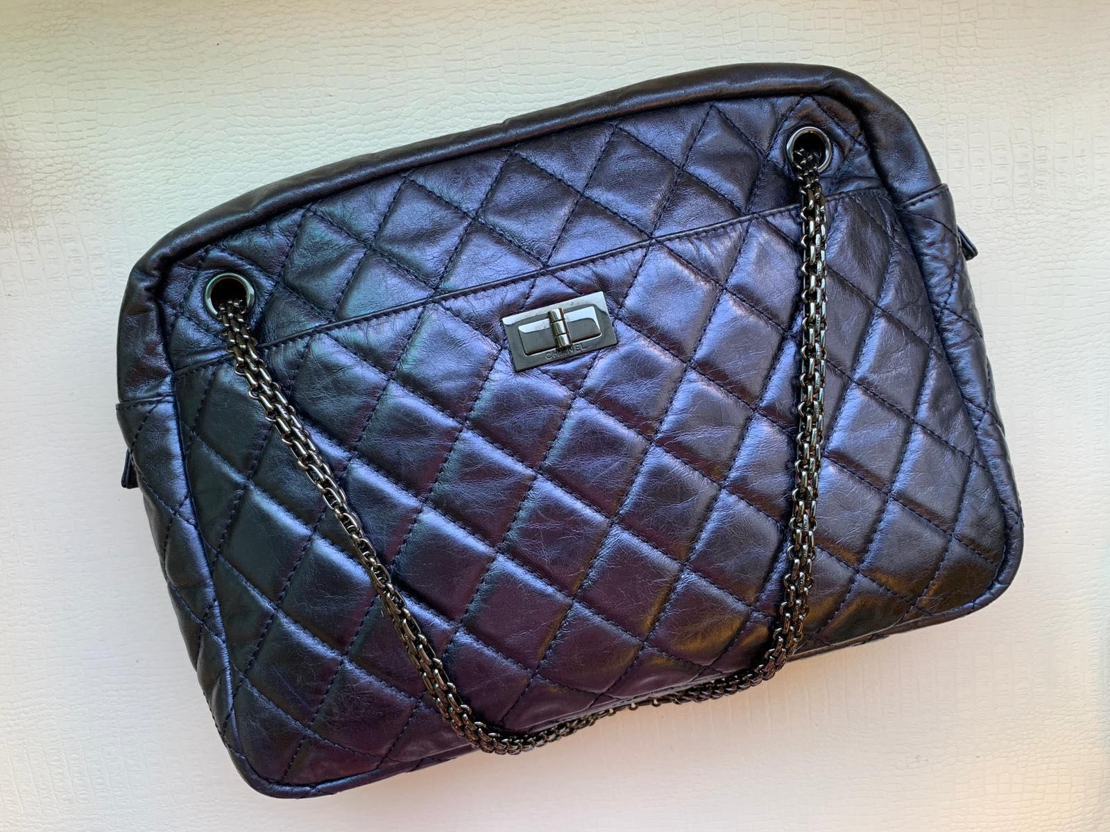 38dff70c113c ChAnel reissue camera bag in gorgeous metallic purple, Women's ...