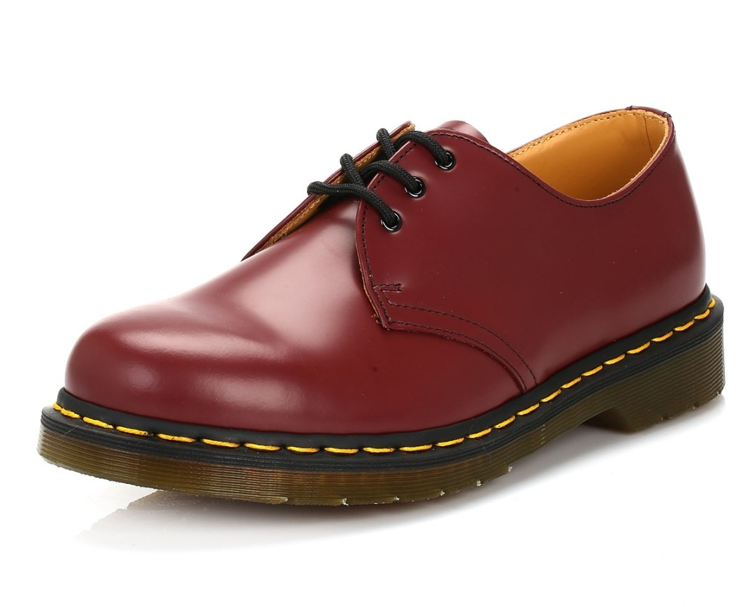53f2764ff9d878 Dr Martens Cherry Red Shoe (Unisex) REDUCED