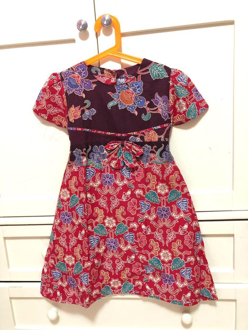 Dress Batik Anak perempuan murah