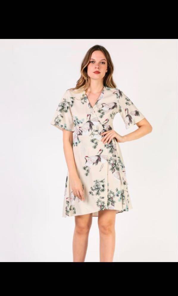 440f93e05615 Dressabelle Crane Wrap Dress, Women's Fashion, Clothes, Dresses ...
