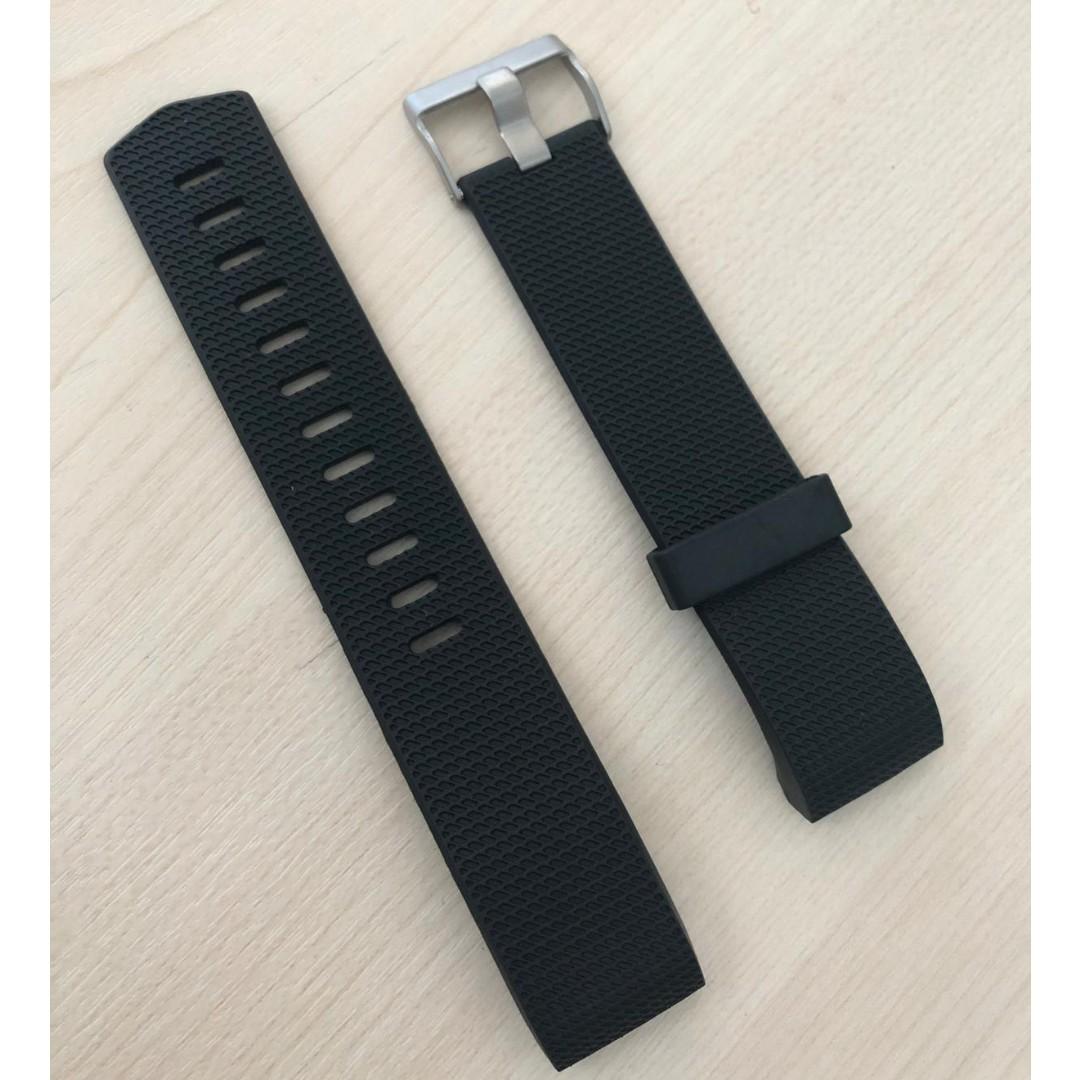 Fitbit Charge 2 Black Silicon Wrist Strap x 2 pcs